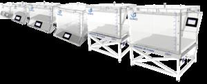 Gama 6 tamaños camara de vacio hermeticidad deteccion de fugas sello empaques DVACI CDV 01
