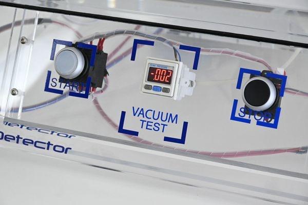 regulation du vide pour test étanchéité emballage