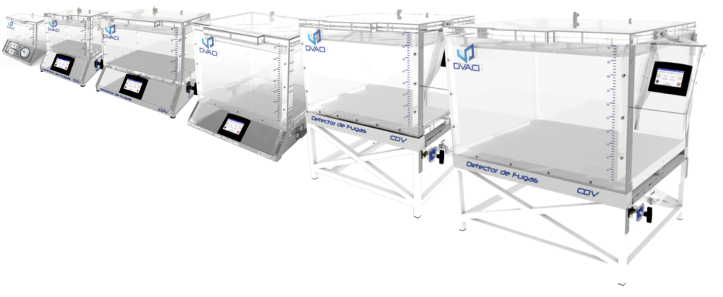 Gamme 6 tailles de caisson a vide etancheite Detecteur de fuites pour Emballages