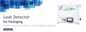 Package control seal leak tester slider mobil