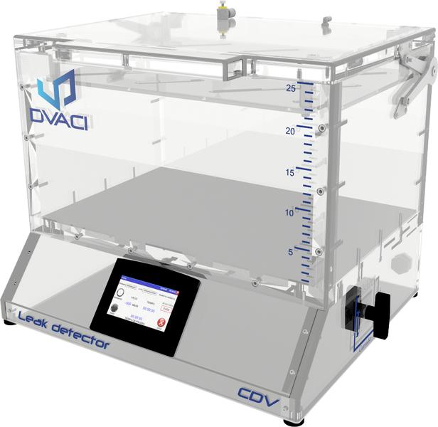 leak detector for packaging vacuum acrylic chamber cdv