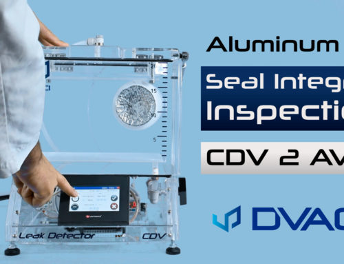 Hot stamped aluminum foil seal integrity testing