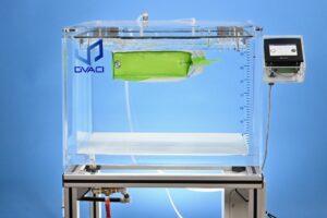Large vacuum chamber for leak testing water bath