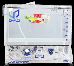 flexible packaging leak tester water bath immersion bubble emision